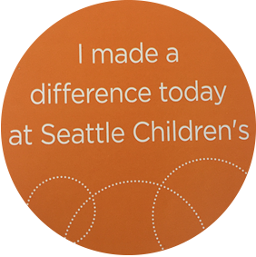 I made a difference today at seattle childrens hospital